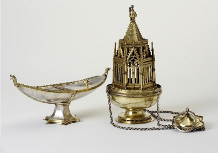 Ramsey Abbey censer and incense boat