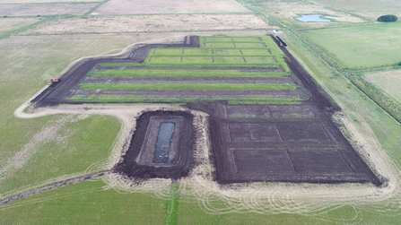 Great Fen Water Works land prep aerial Henry Stanier