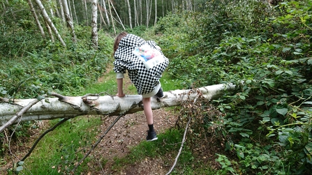 Child exploring at Holme Fen